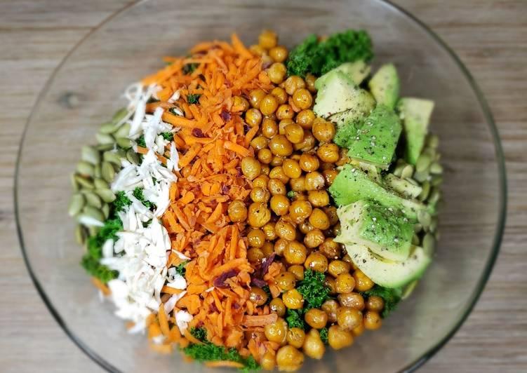 Kale/carrot salad