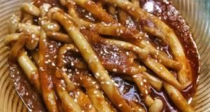 Jamur Shimeji Saus Pedas