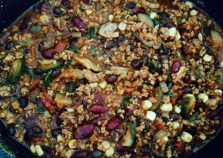 Turkey & veggie chili