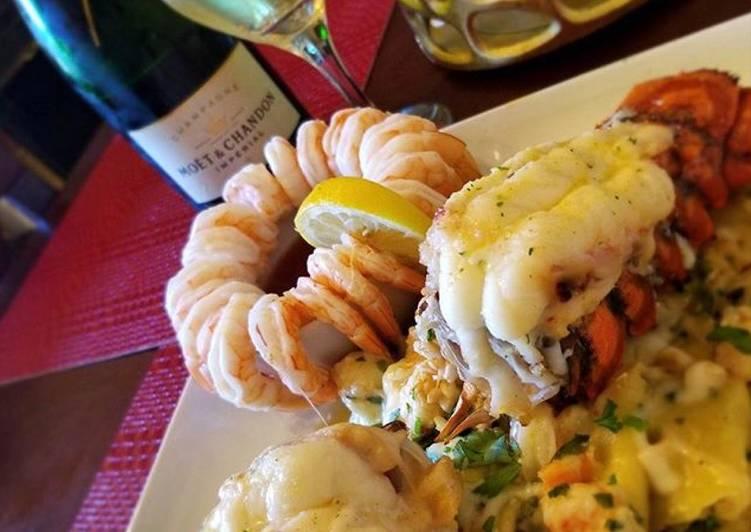 Butter champagne lobster ravioli