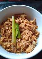 Resep Ayam suwir gurih manis oleh Kyky Try Rejeky - Cookpad