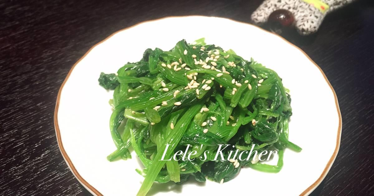 韓式涼拌菠菜食譜 by 樂樂的小資廚房 - Cookpad