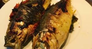 Ikan Cencaru Bakar Sumbat Sambal