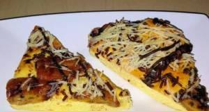 Banana choco cheese pizza