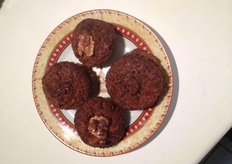 Muffins à citrouille, chocolat et noix