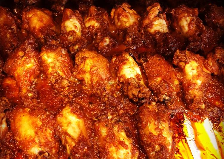 Baked Honey/Buffalo Barbecue Chicken Wings