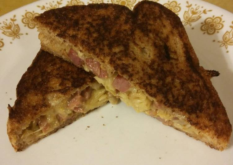 Leftover Corned Beef & Cabbage Grilled Sandwich