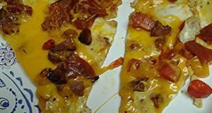 pizza egg omelet