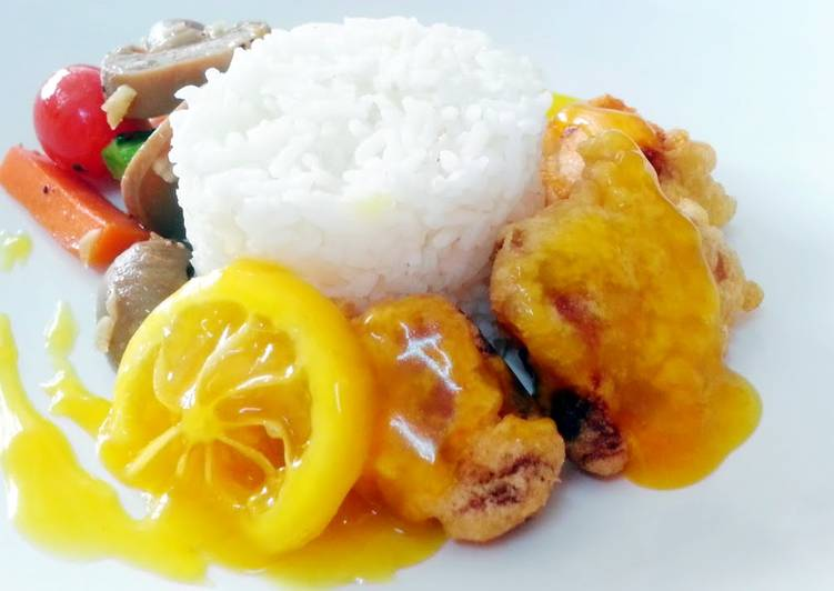 , Easiest Way to Make Delicious Lemon chicken (chinese style)