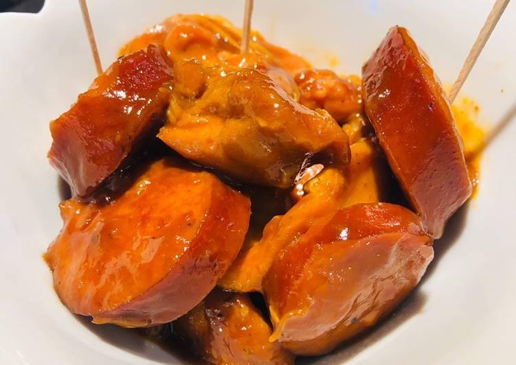 Crockpot Chicken 🐔 Kielbasa Bites