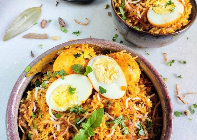 Quick Egg Biryani