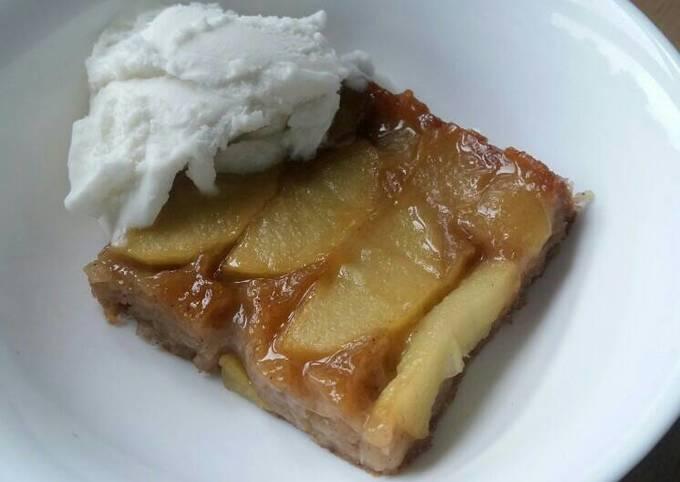 Vickys Caramel Apple Upsides Down Cake, GF DF EF SF NF