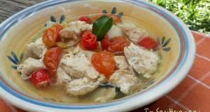 Menu Diet GM hari ke Ayam kukus tomat ala Indi Makan siang/m