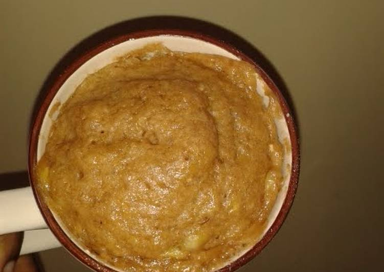 Yummy Banana Microwave Mug Cake