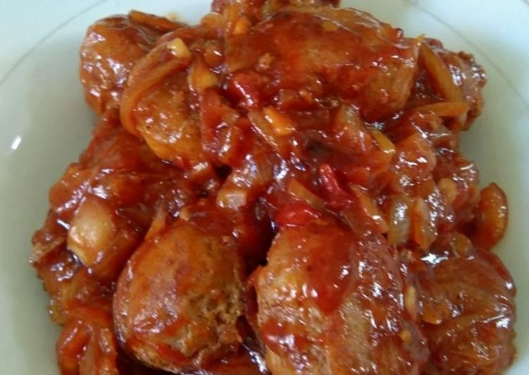 Bola daging cincang asam manis