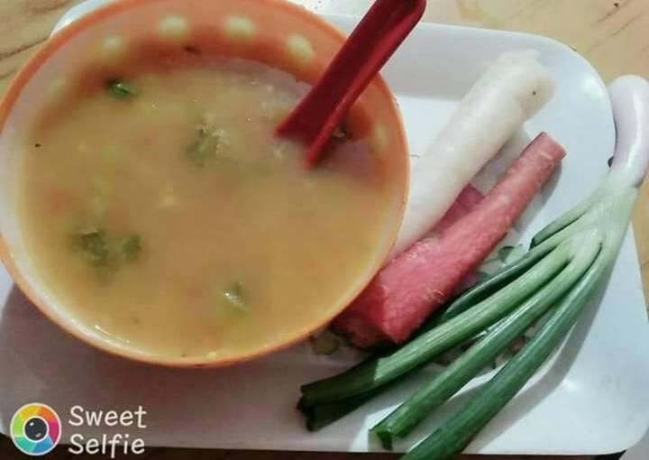 Healthy mix veg soup
