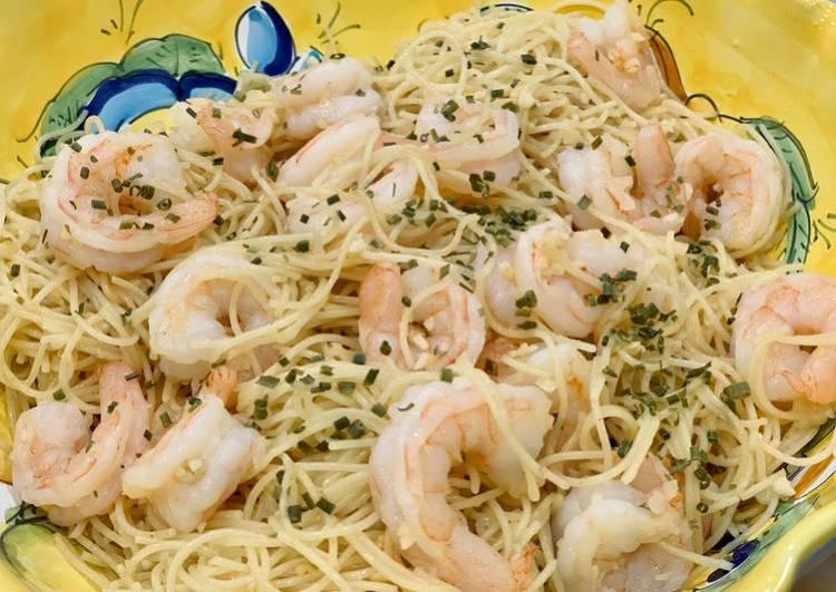 Shrimp scampi (alcohol free)