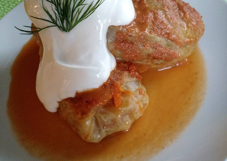 Голубцы - Vegetarian Cabbage Rolls