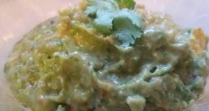 Hatch green chili guacamole