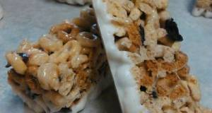 Blueberry Cherrio Cereal Bars