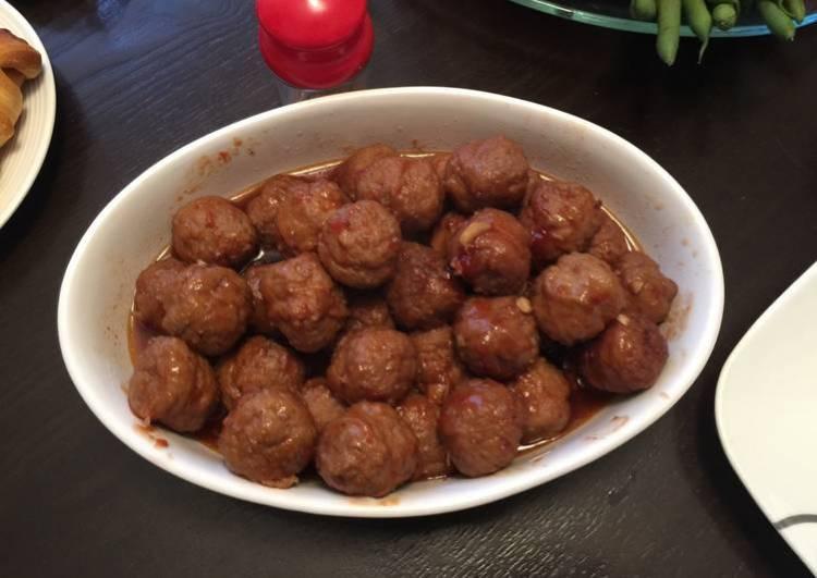 Maple honey garlic meatballs