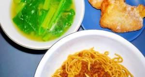 1. Topping Bakmi: Daging/ayam/b2 cincang saus kecap (Easy)
