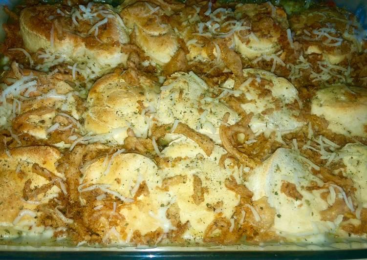 EASY chicken & biscuits casserole