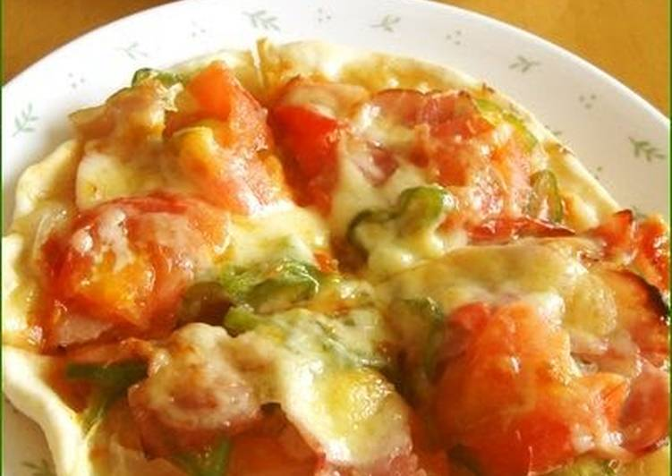 Pizza Baked With Just Cake Flour  No Need for Rising
