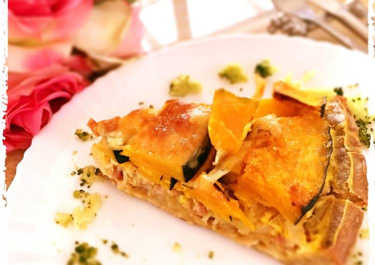 Warming and Rich Buckwheat Quiche with Kabocha Squash and Soy Milk