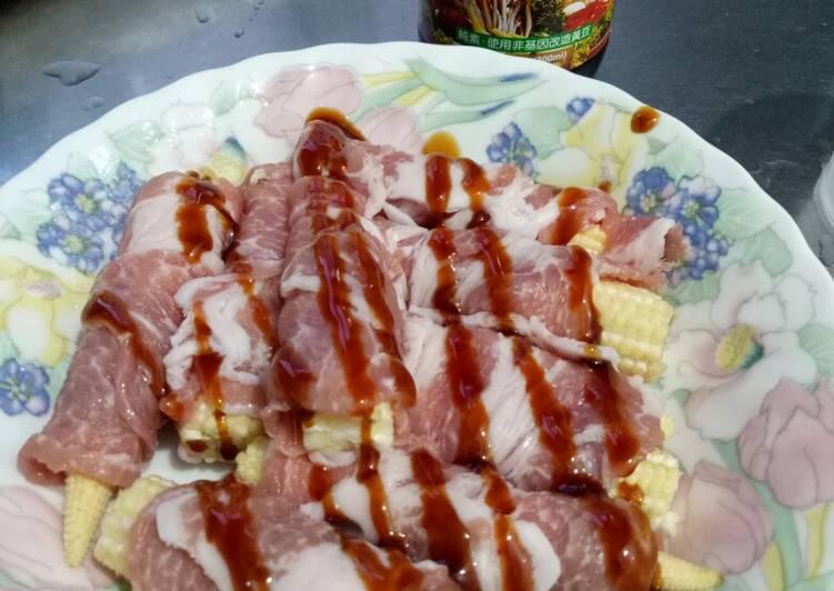 Evonne Gu 發表的 蠔油蒸玉米筍豬肉卷 食譜 - Cookpad
