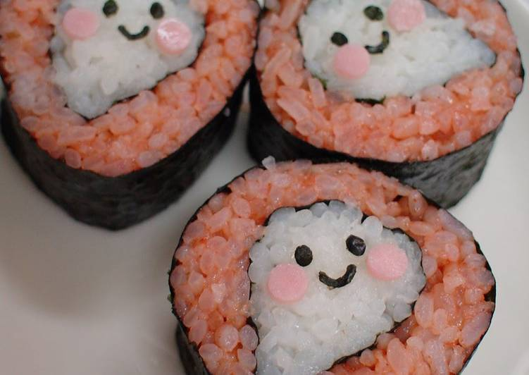'Lil Ghost Sushi Rolls For Halloween