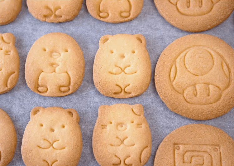 Basic butter cookies (Cut-Out Cookies, Stamped Cookies)【Recipe Video】
