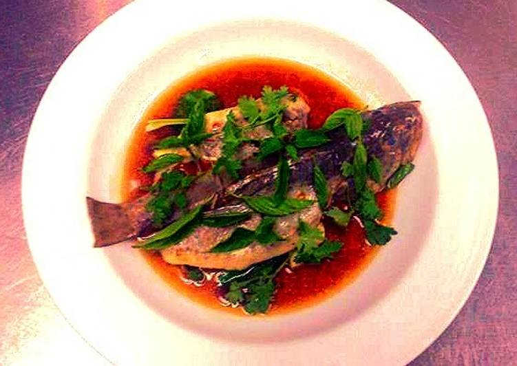 Thai style steam fish