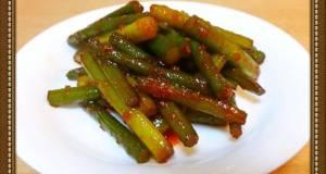 Garlic Shoot Bokkeum Korean-Style Saut Dish
