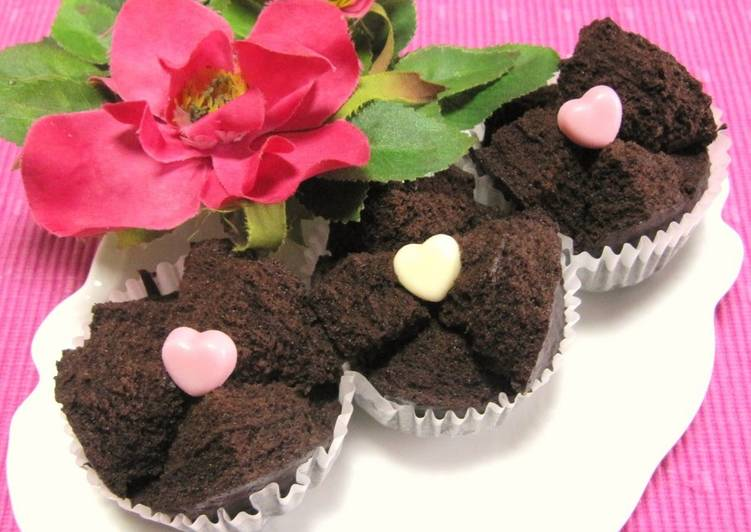 Steamed Rice Flour Gateau au Chocolat for Valentine's Day