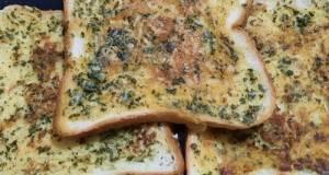 Garlic bread roti tawar (panggang teflon)