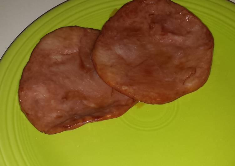 Ham with caramelized brown sugar