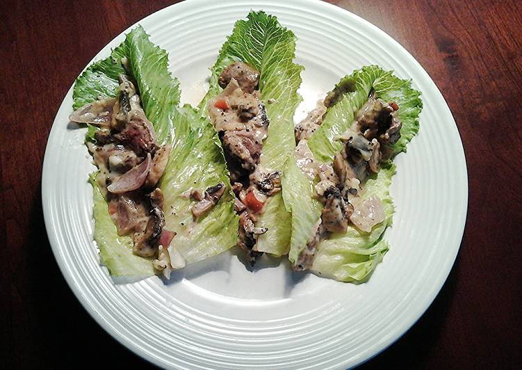 Cheese Steak Lettece Wraps