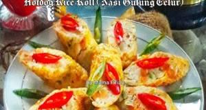 Hotdog rice Roll (Nasi Gulung Telur)