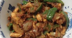Indian Green Bell Pepper And Chicken Curry Home Style Chicken Jalfrezi