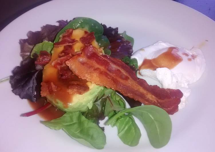 Sweet and Sour Egg, Bacon and Avo Salad