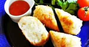 Shio-koji Soboro Croquettes Wrapped in Rice Paper