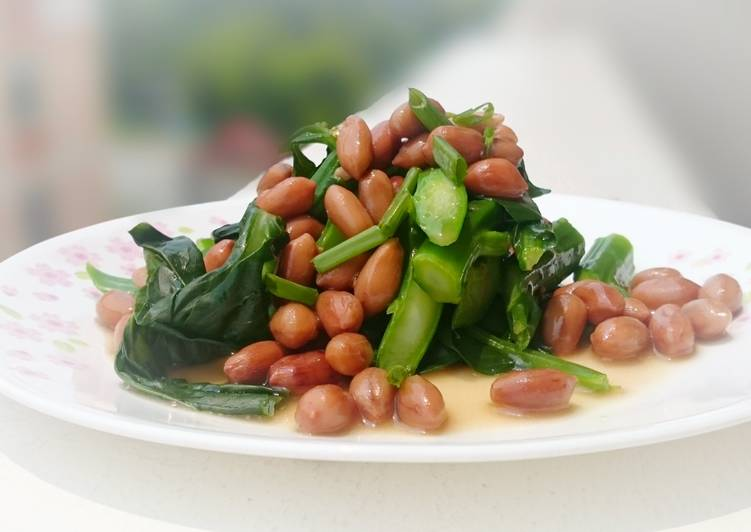 , Recipe: Tasty Chinese Broccoli with Canned Braised Peanut