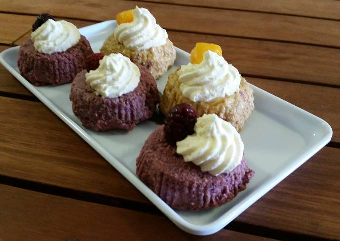 RAW MIXED BERRY and MANGO CAKES