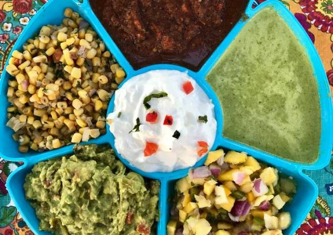 Fresh Made Multi Dip/Salsa Tray
