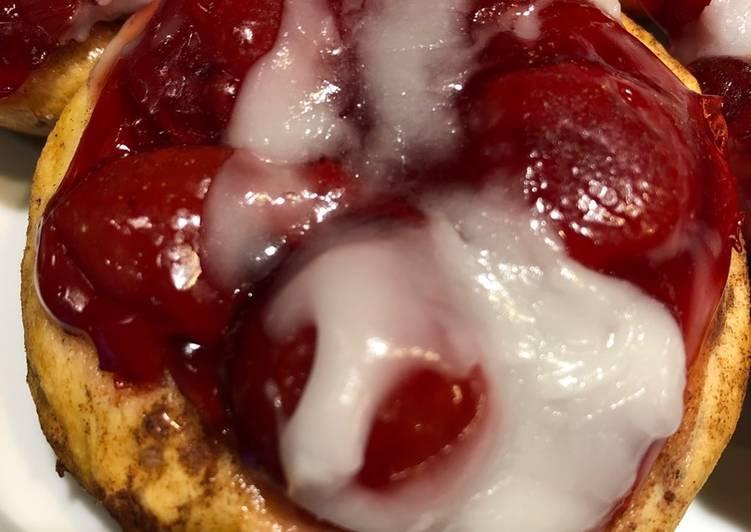 Cherry Cinnamon Roll Hand Pies