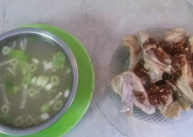 Ayam Rebus Siram Bawang