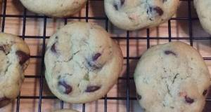 Pistachio Pudding Cookies with Chocolate Chips