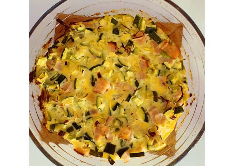 Quiche sans pâte au jambon et ses délicieux légumes