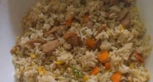 Nasi Goreng Sambal Ijo (Toping Baso Sapi dan Teri Medan) Simple